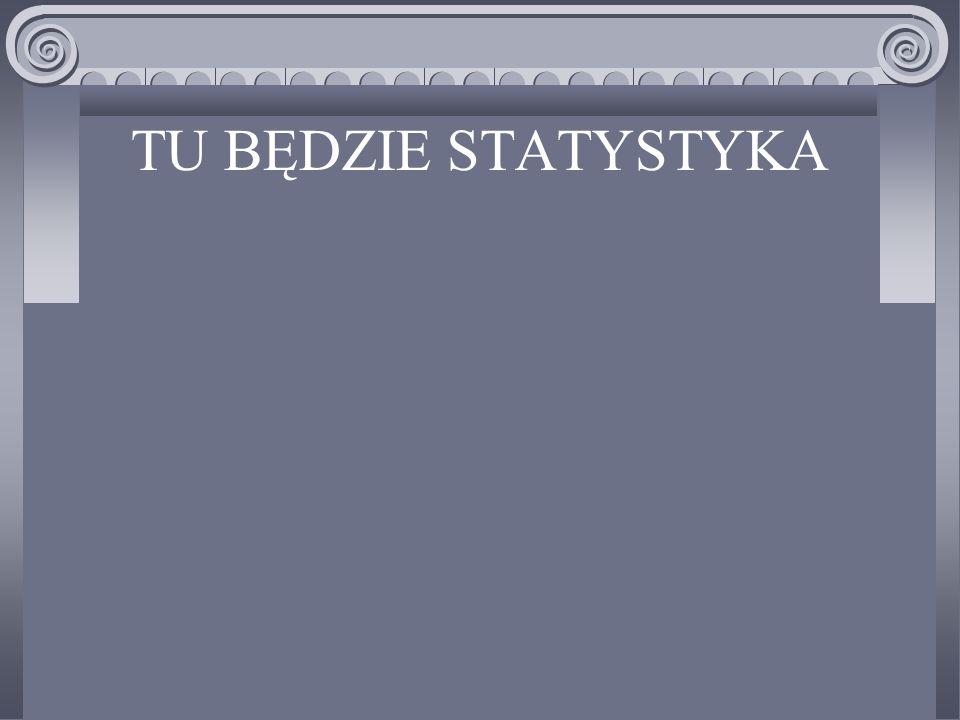 TU BĘDZIE STATYSTYKA