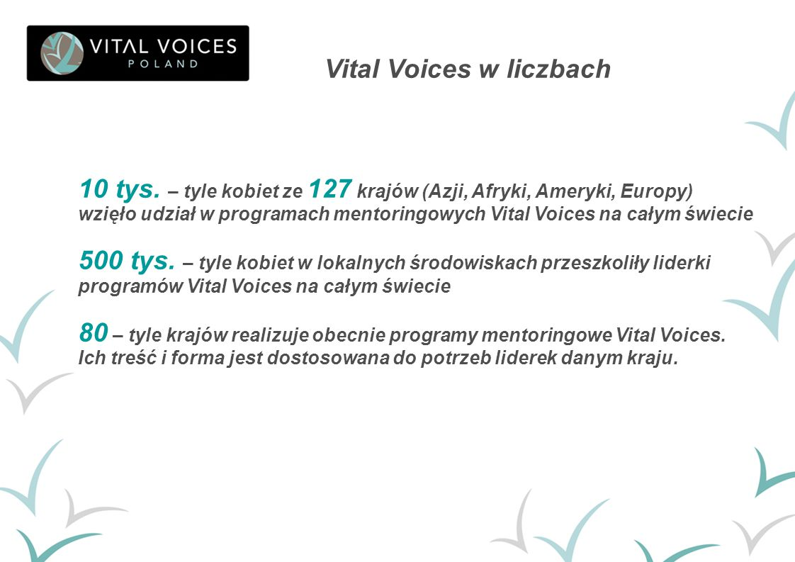 Vital Voices w liczbach