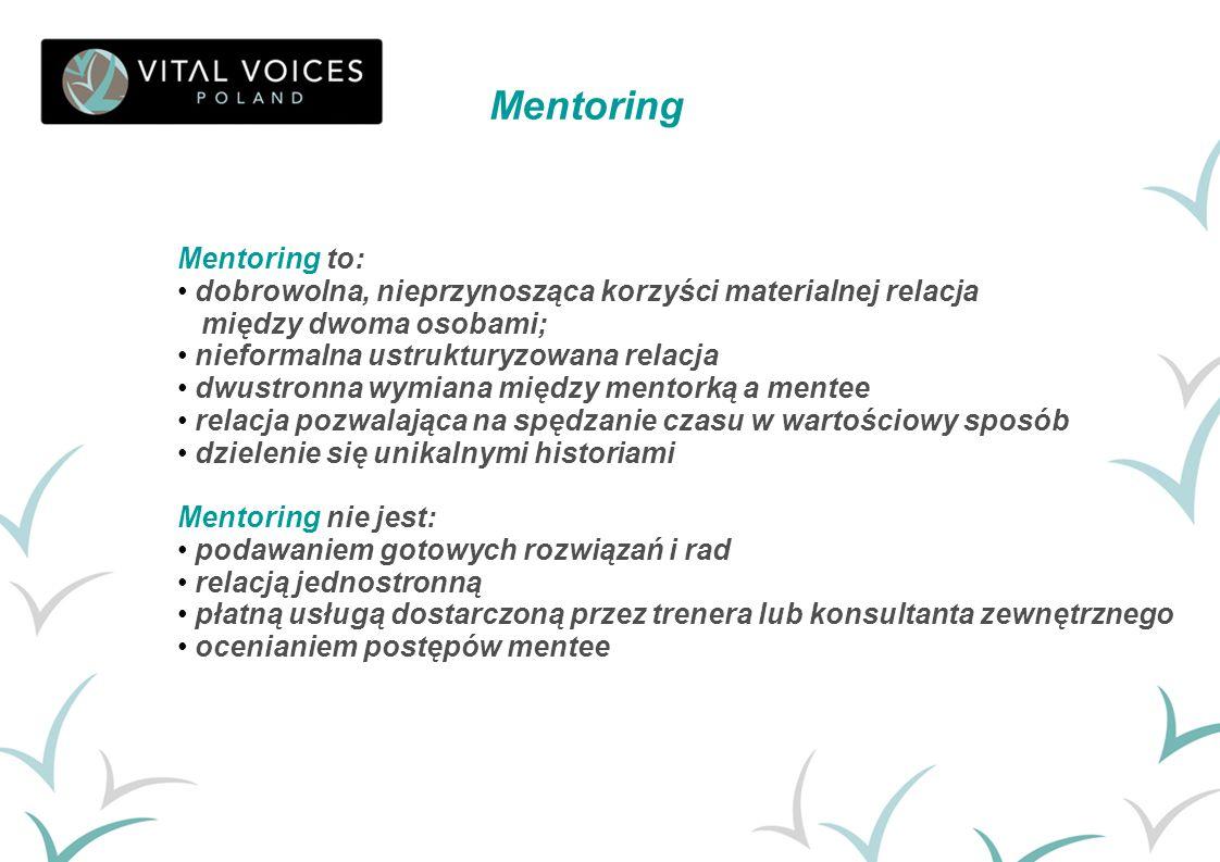 Mentoring Mentoring to: