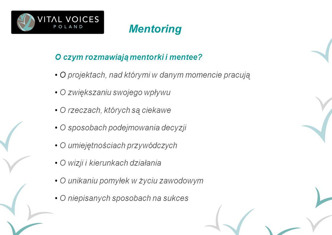 Mentoring O czym rozmawiają mentorki i mentee