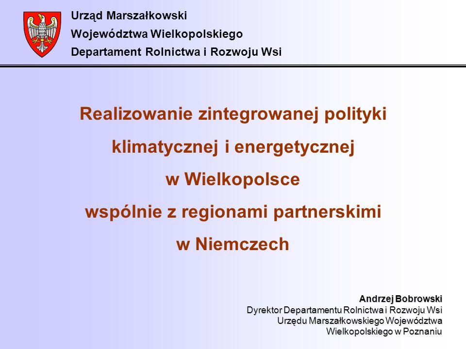 Urząd Marszałkowski Województwa Wielkopolskiego Departament Rolnictwa i Rozwoju Wsi