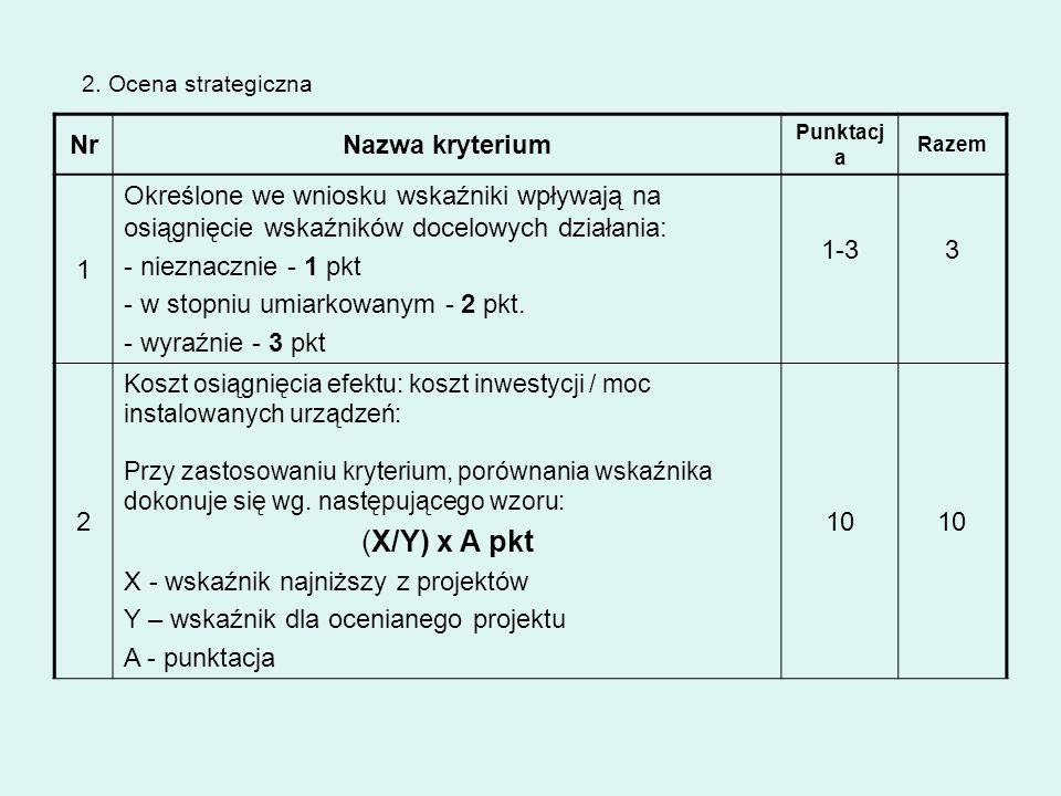 (X/Y) x A pkt Nr Nazwa kryterium 1