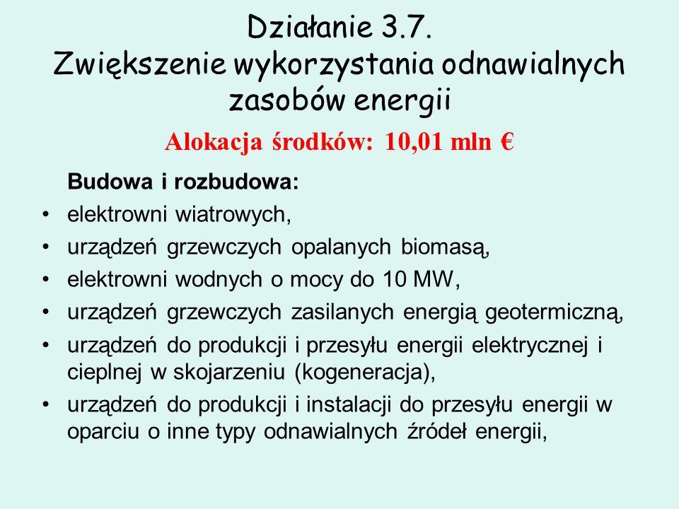 Działanie 3.7. Zwiększenie wykorzystania odnawialnych zasobów energii