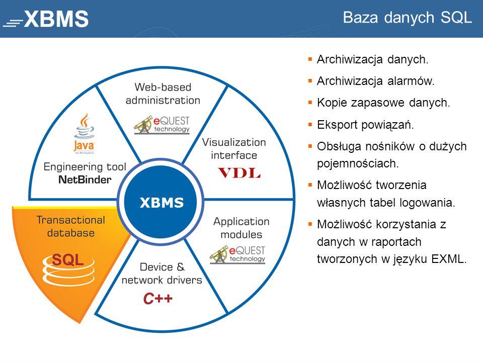 Baza danych SQL XBMS Archiwizacja danych. Archiwizacja alarmów.