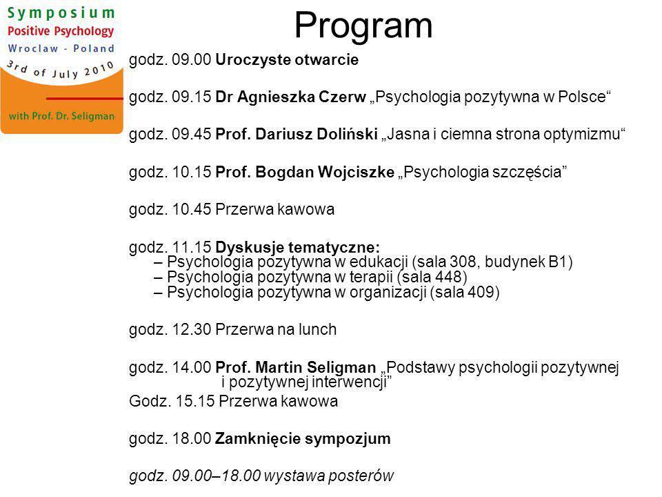 Program godz. 09.00 Uroczyste otwarcie