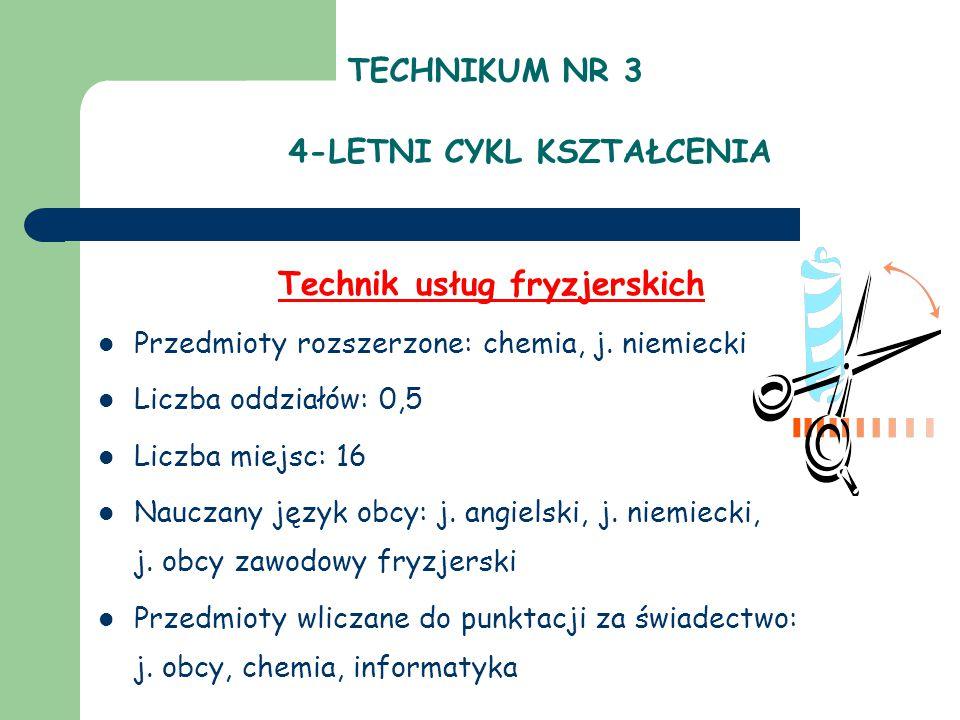 TECHNIKUM NR 3 4-LETNI CYKL KSZTAŁCENIA