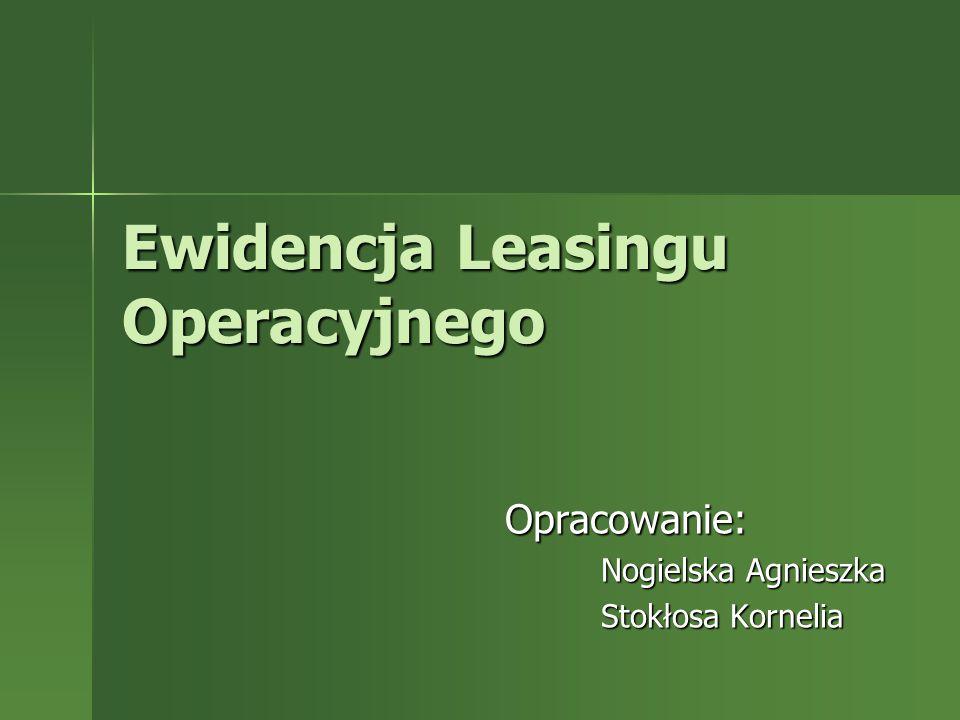 Ewidencja Leasingu Operacyjnego