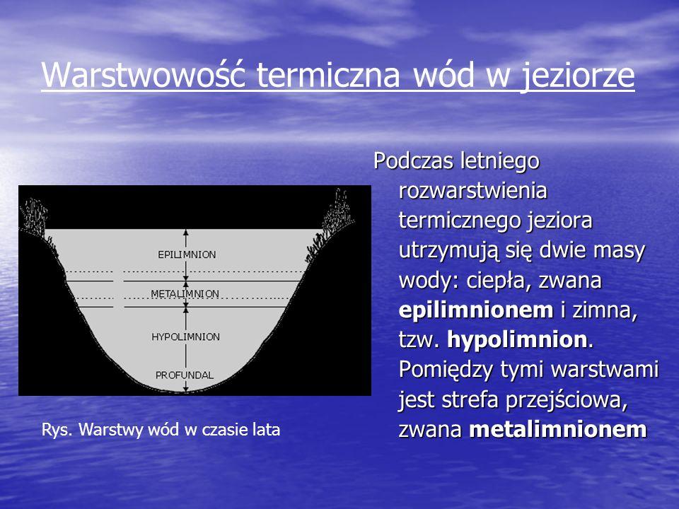 Warstwowość termiczna wód w jeziorze
