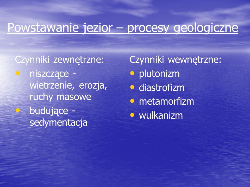 Powstawanie jezior – procesy geologiczne