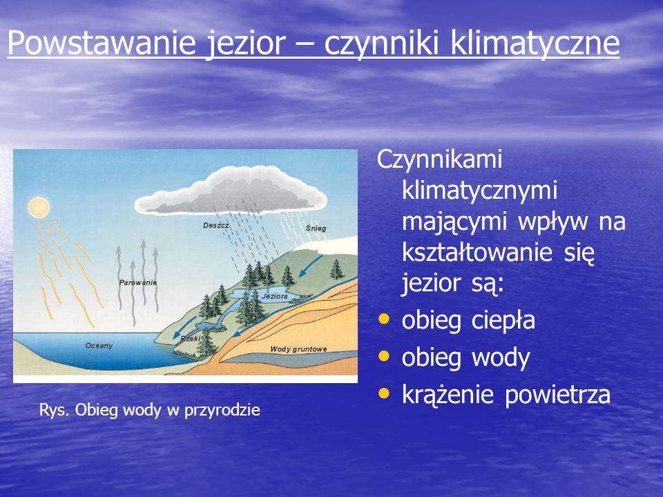 Powstawanie jezior – czynniki klimatyczne