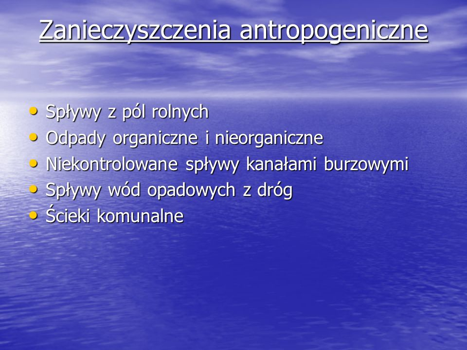 Zanieczyszczenia antropogeniczne