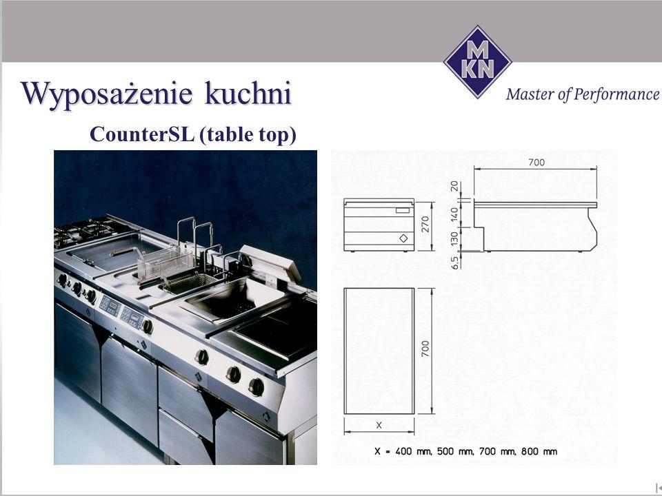 Wyposażenie kuchni CounterSL (table top)