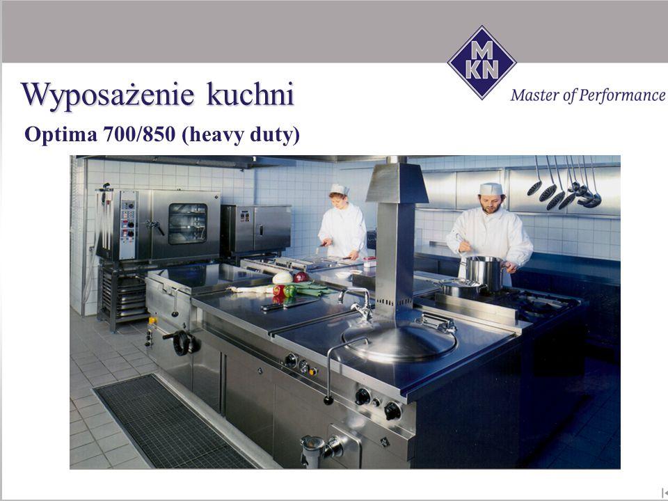 Wyposażenie kuchni Optima 700/850 (heavy duty)