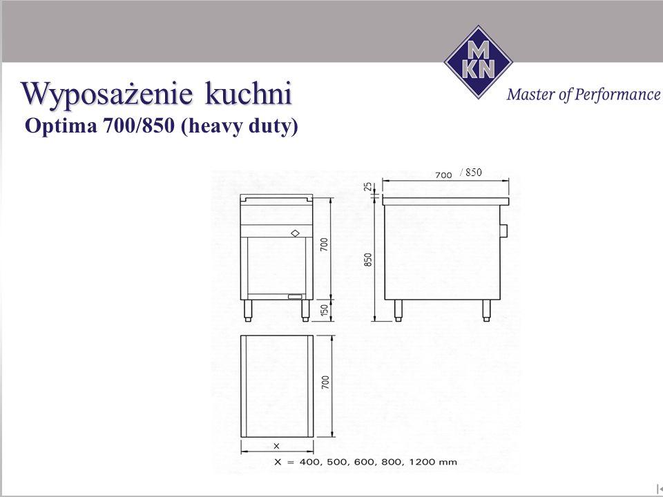 Wyposażenie kuchni Optima 700/850 (heavy duty) / 850