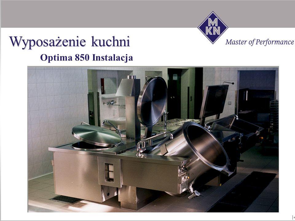 Wyposażenie kuchni Optima 850 Instalacja