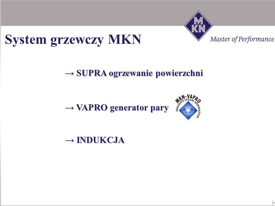 System grzewczy MKN SUPRA ogrzewanie powierzchni VAPRO generator pary
