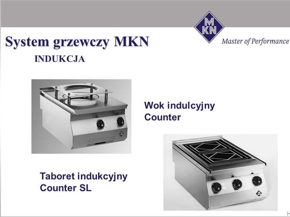 System grzewczy MKN INDUKCJA Wok indulcyjny Counter SL