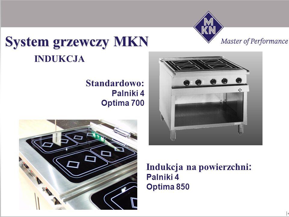 System grzewczy MKN INDUKCJA Standardowo: Indukcja na powierzchni: