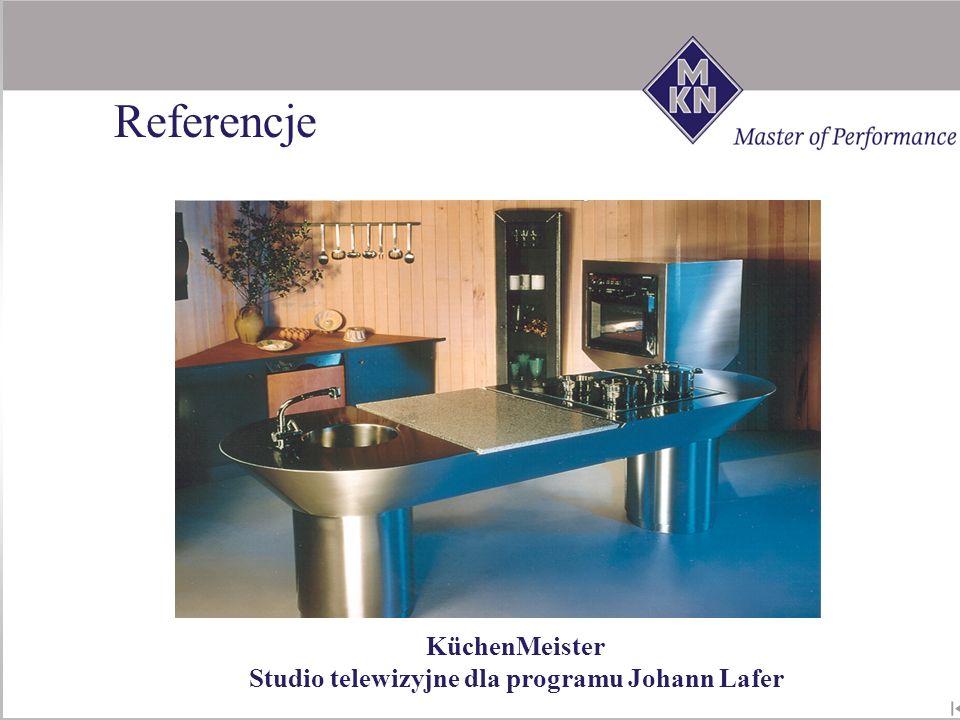 Studio telewizyjne dla programu Johann Lafer