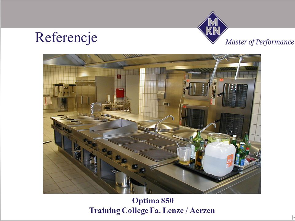 Referencje Optima 850 Training College Fa. Lenze / Aerzen