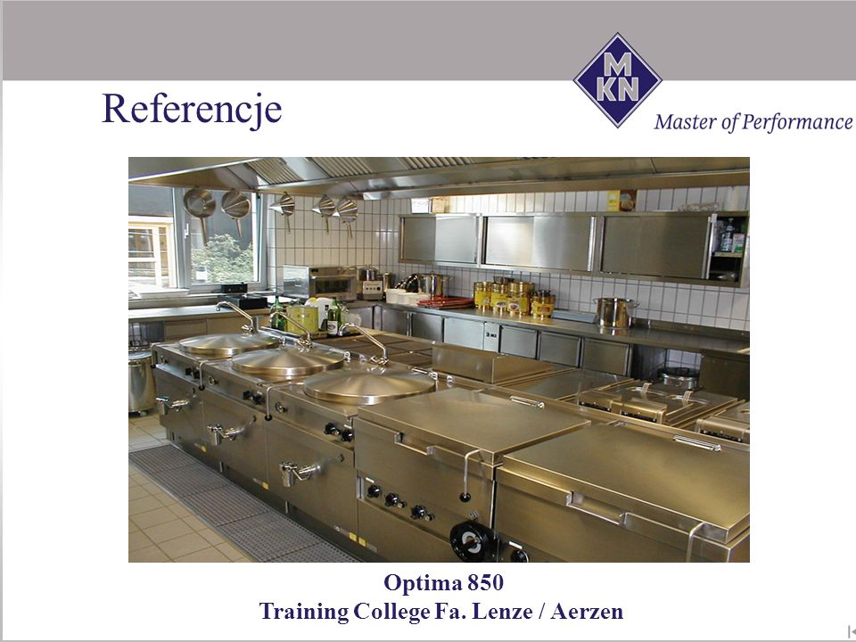 Referencje Optima 850 Training College Fa. Lenze / Aerzen