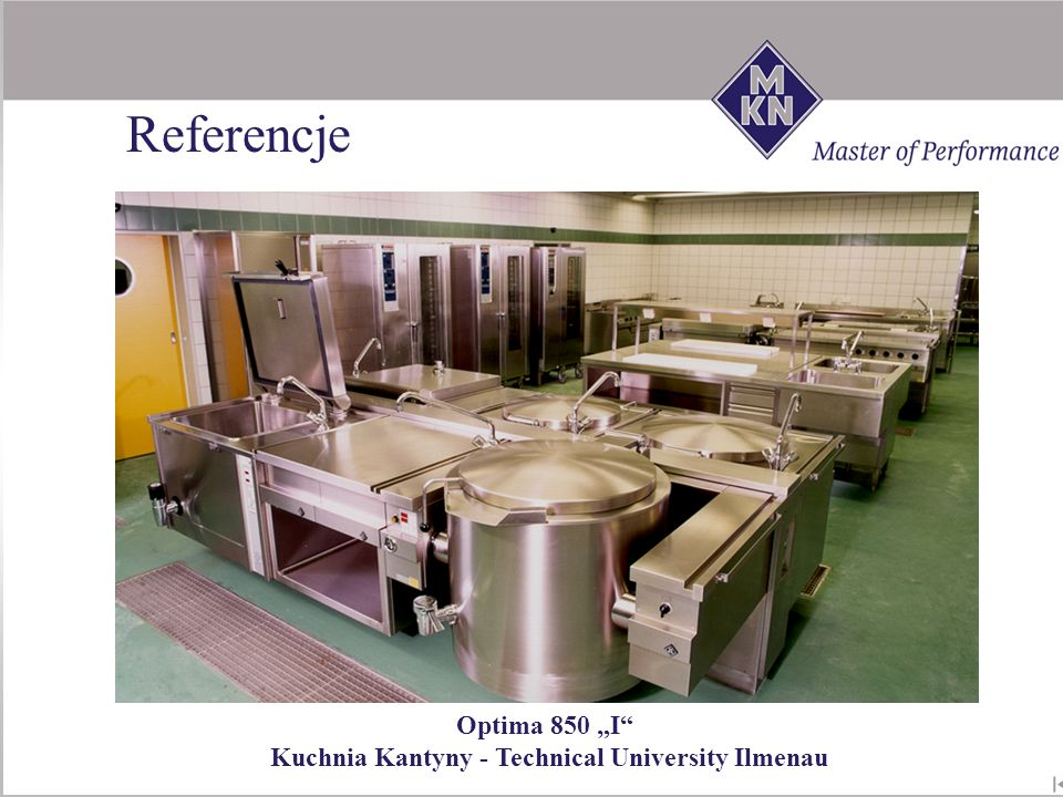 "Referencje Optima 850 ""I Kuchnia Kantyny - Technical University Ilmenau"