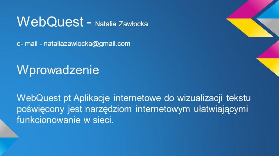 WebQuest - Natalia Zawłocka