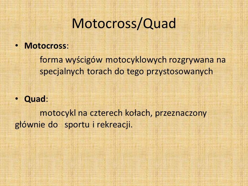 Motocross/Quad Motocross: