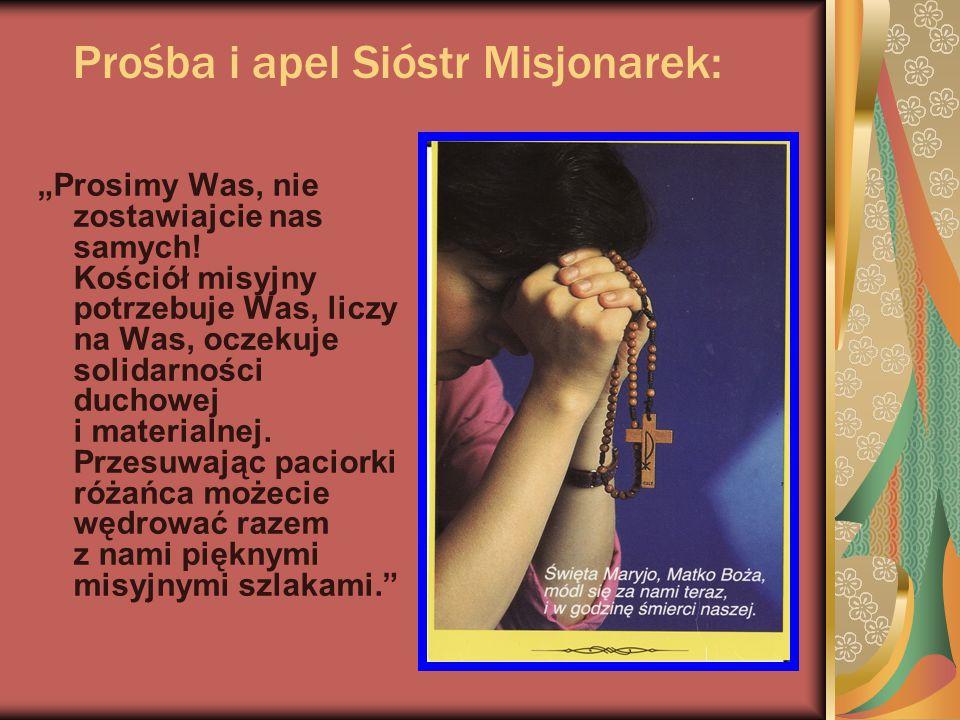 Prośba i apel Sióstr Misjonarek: