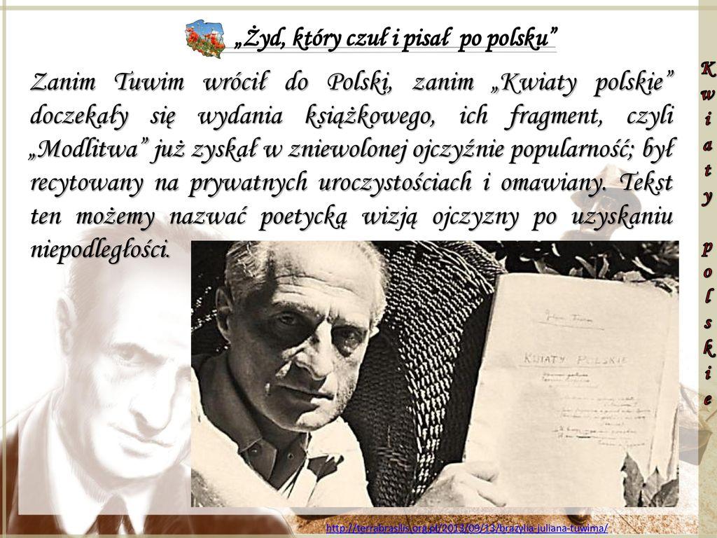 Zyd Ktory Czul I Pisal Po Polsku Ppt Pobierz