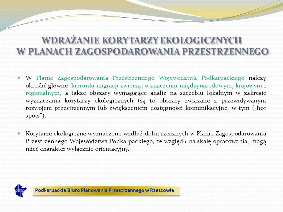 WDRAŻANIE KORYTARZY EKOLOGICZNYCH W PLANACH ZAGOSPODAROWANIA PRZESTRZENNEGO
