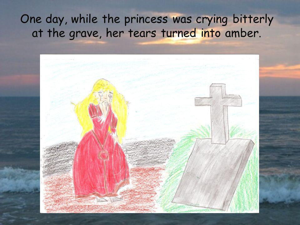 One day, while the princess was crying bitterly at the grave, her tears turned into amber.
