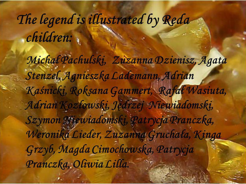 The legend is illustrated by Reda children: