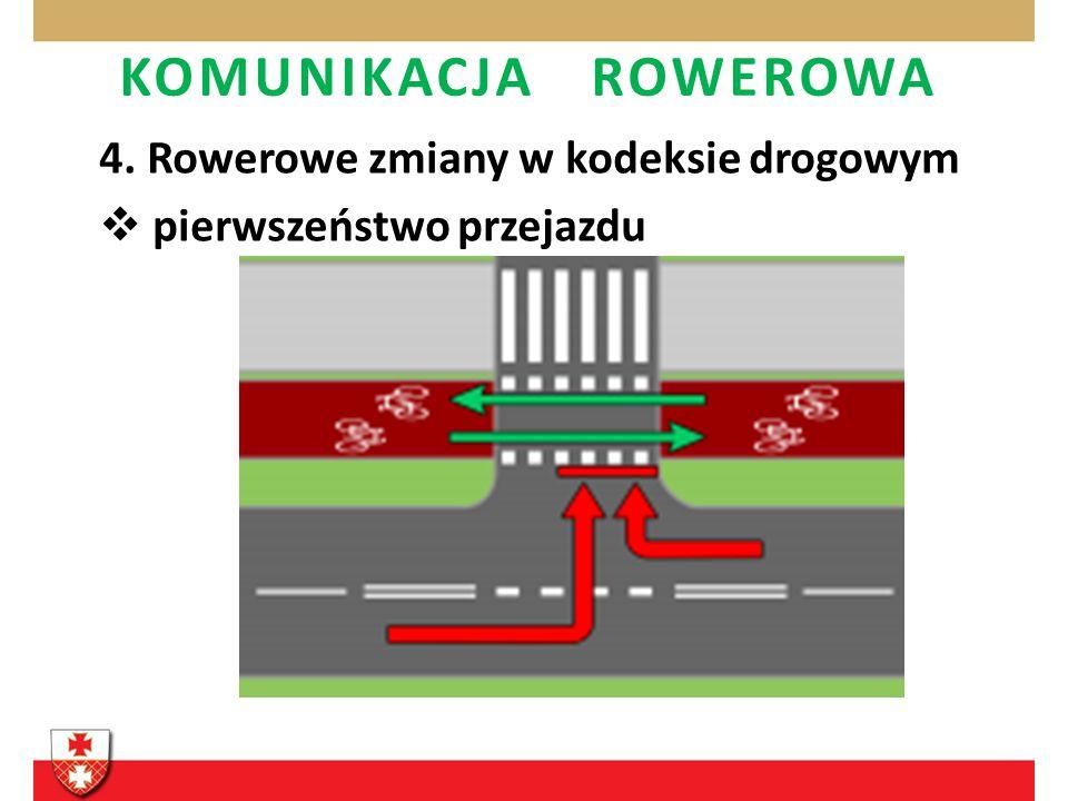 4. Rowerowe zmiany w kodeksie drogowym pierwszeństwo przejazdu