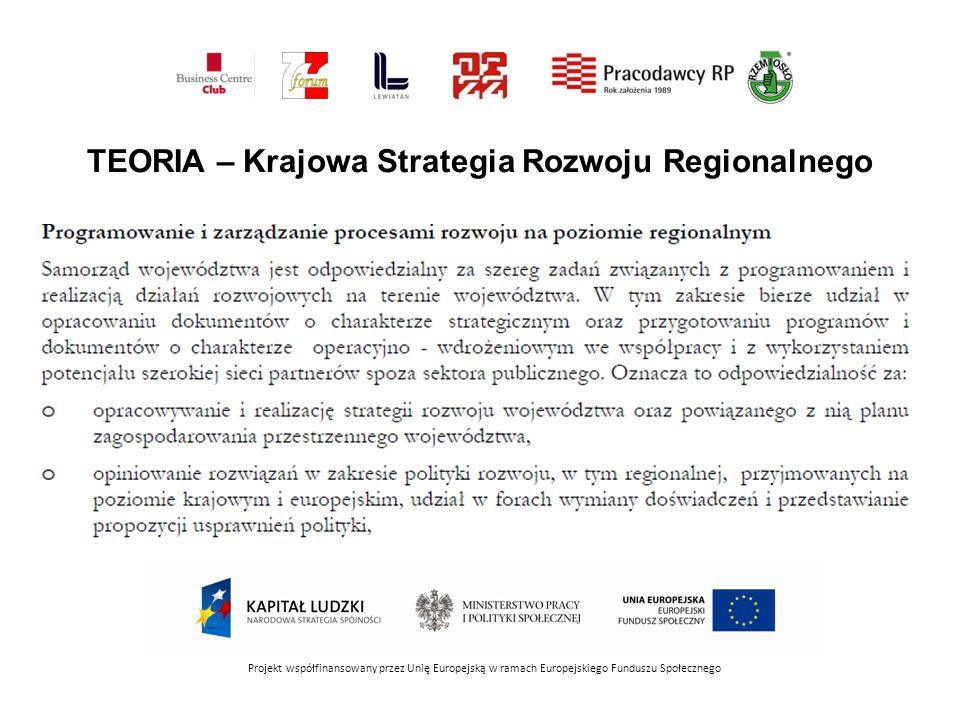 TEORIA – Krajowa Strategia Rozwoju Regionalnego