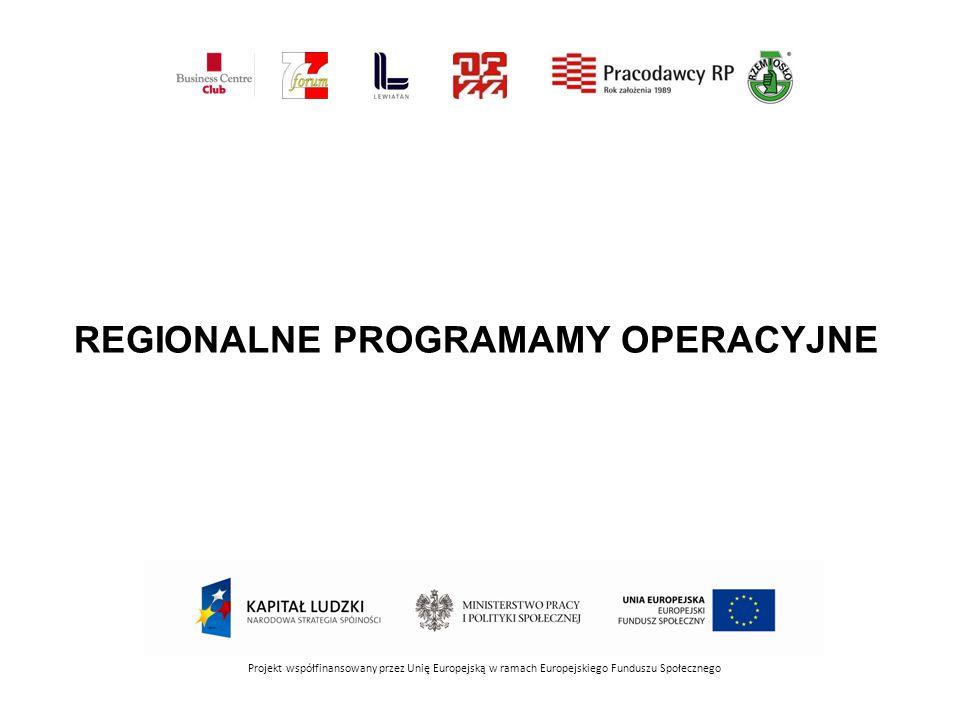REGIONALNE PROGRAMAMY OPERACYJNE