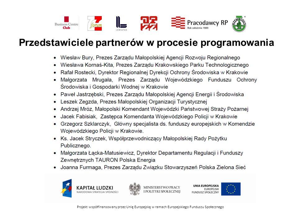 Przedstawiciele partnerów w procesie programowania