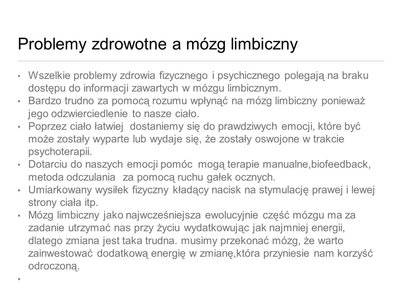 Problemy zdrowotne a mózg limbiczny