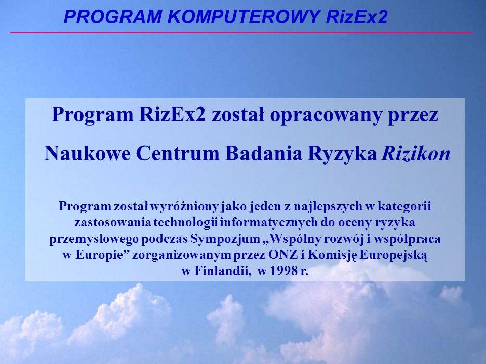 Program RizEx2 został opracowany przez