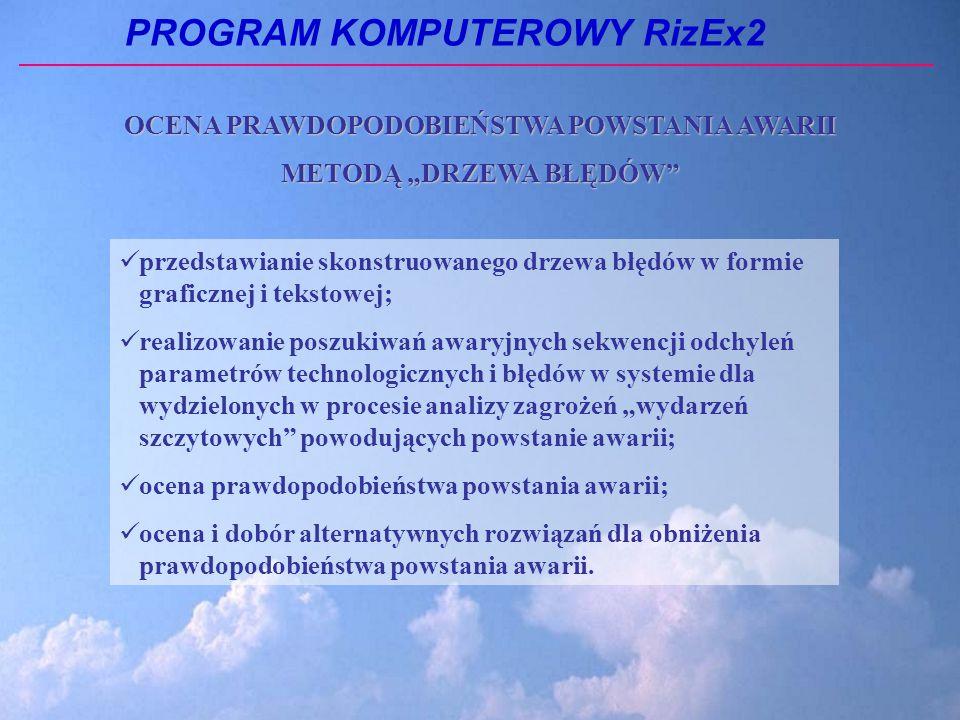 """OCENA PRAWDOPODOBIEŃSTWA POWSTANIA AWARII METODĄ """"DRZEWA BŁĘDÓW"""