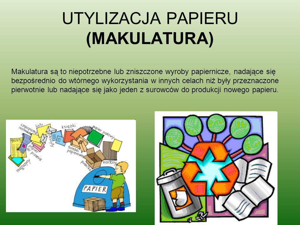UTYLIZACJA PAPIERU (MAKULATURA)
