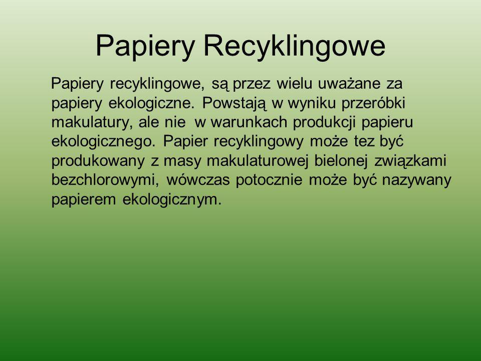 Papiery Recyklingowe