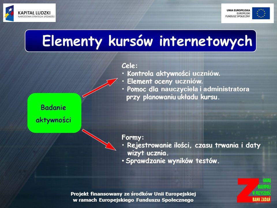 Elementy kursów internetowych