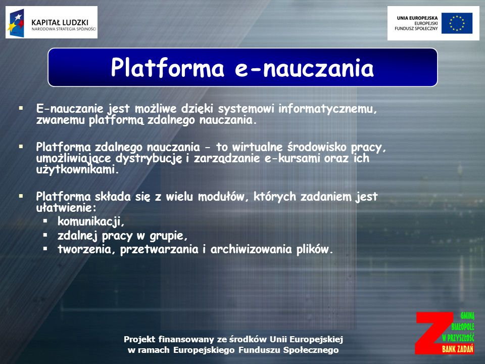Platforma e-nauczania