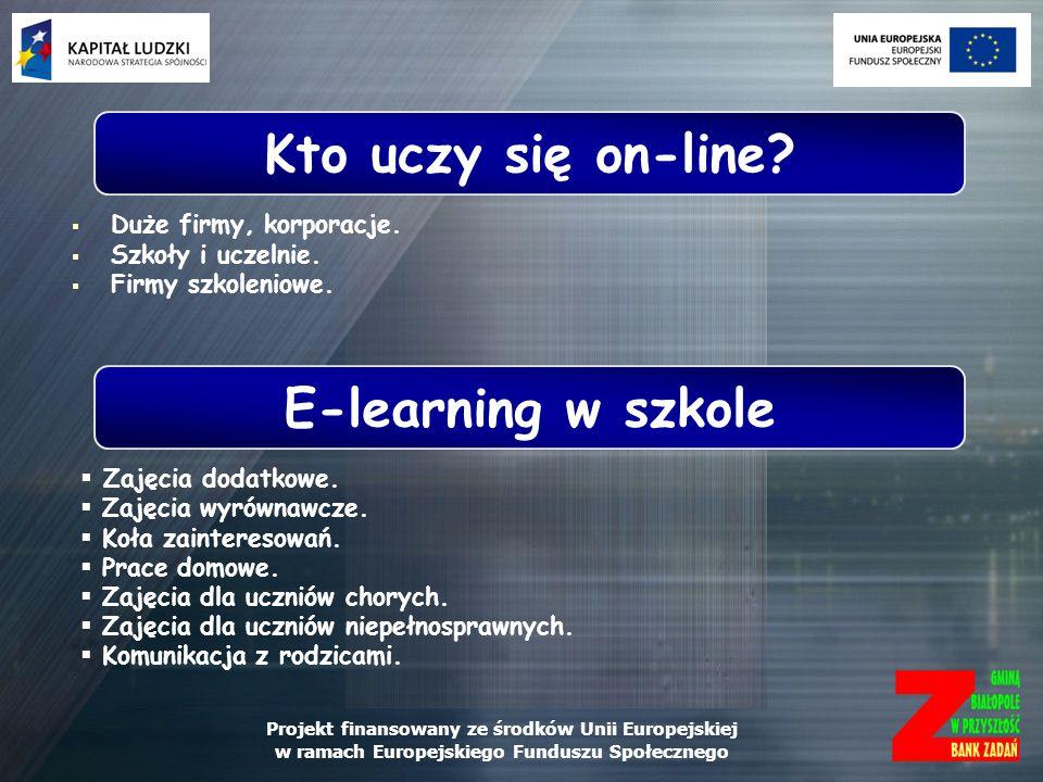 Kto uczy się on-line E-learning w szkole