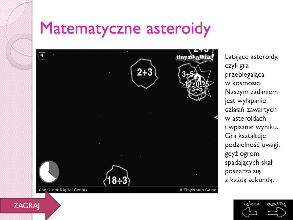 Matematyczne asteroidy
