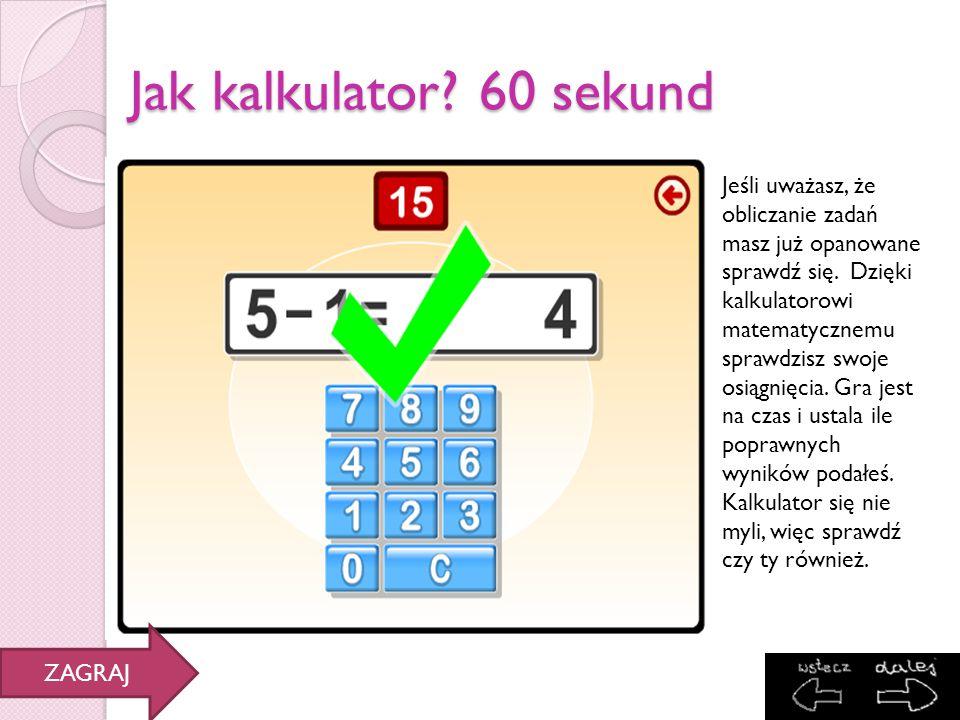 Jak kalkulator 60 sekund