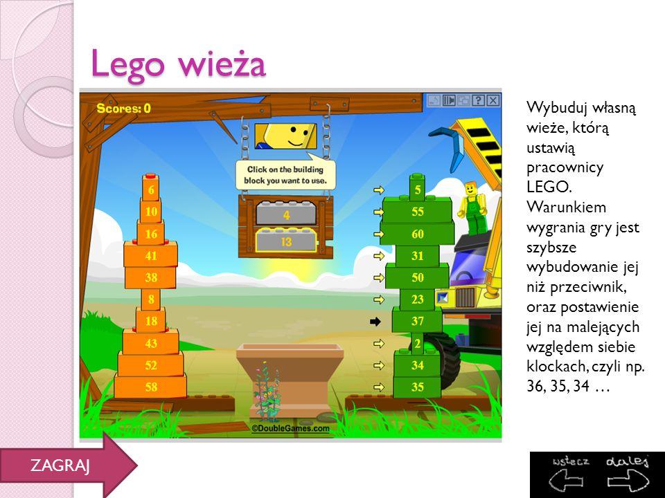 Lego wieża