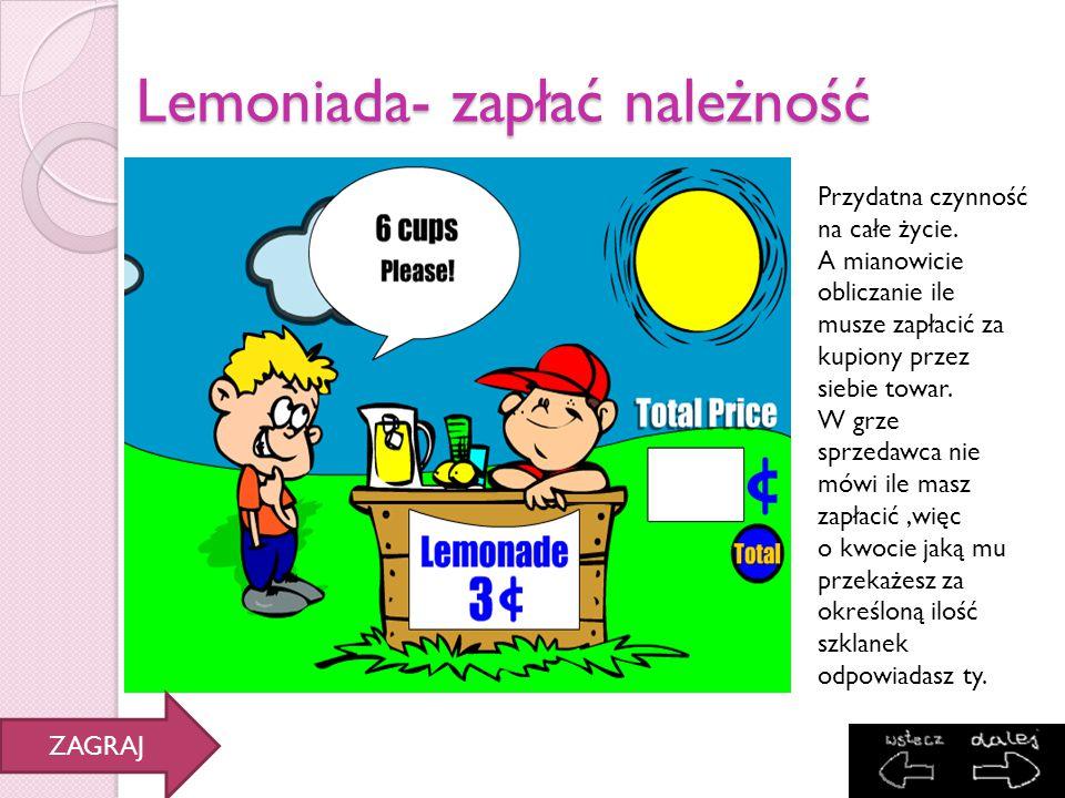 Lemoniada- zapłać należność