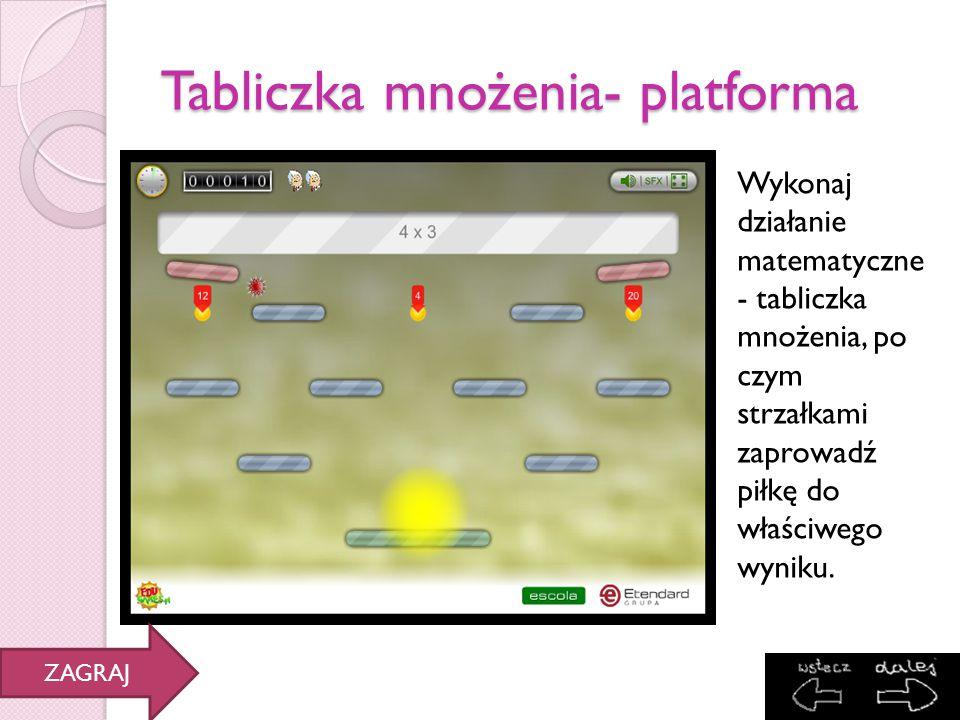 Tabliczka mnożenia- platforma